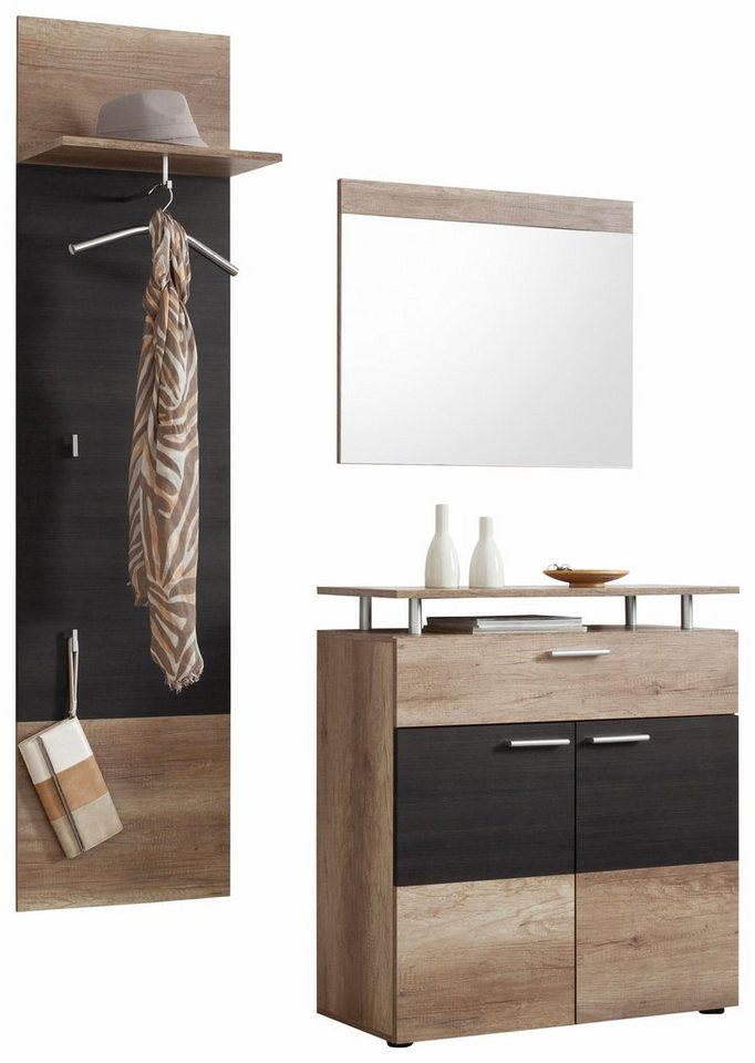 garderoben set polo 3 tlg online kaufen otto. Black Bedroom Furniture Sets. Home Design Ideas