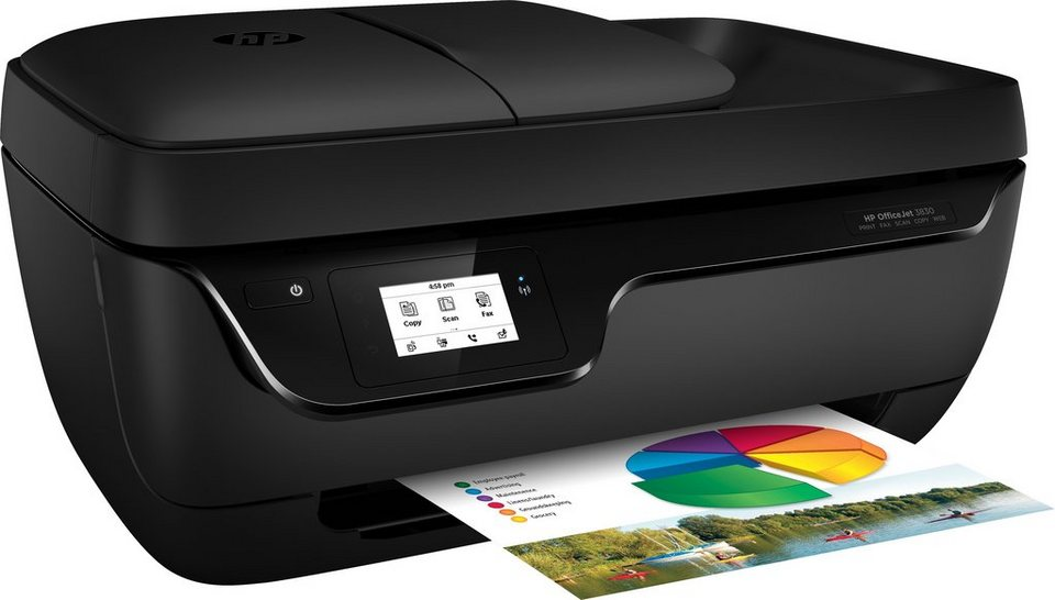 HP Officejet 3830 All-in-One Multifunktionsdrucker in schwarz