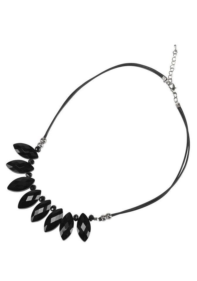 J. Jayz Kette »mit geschliffenen Glassteinen« in schwarz