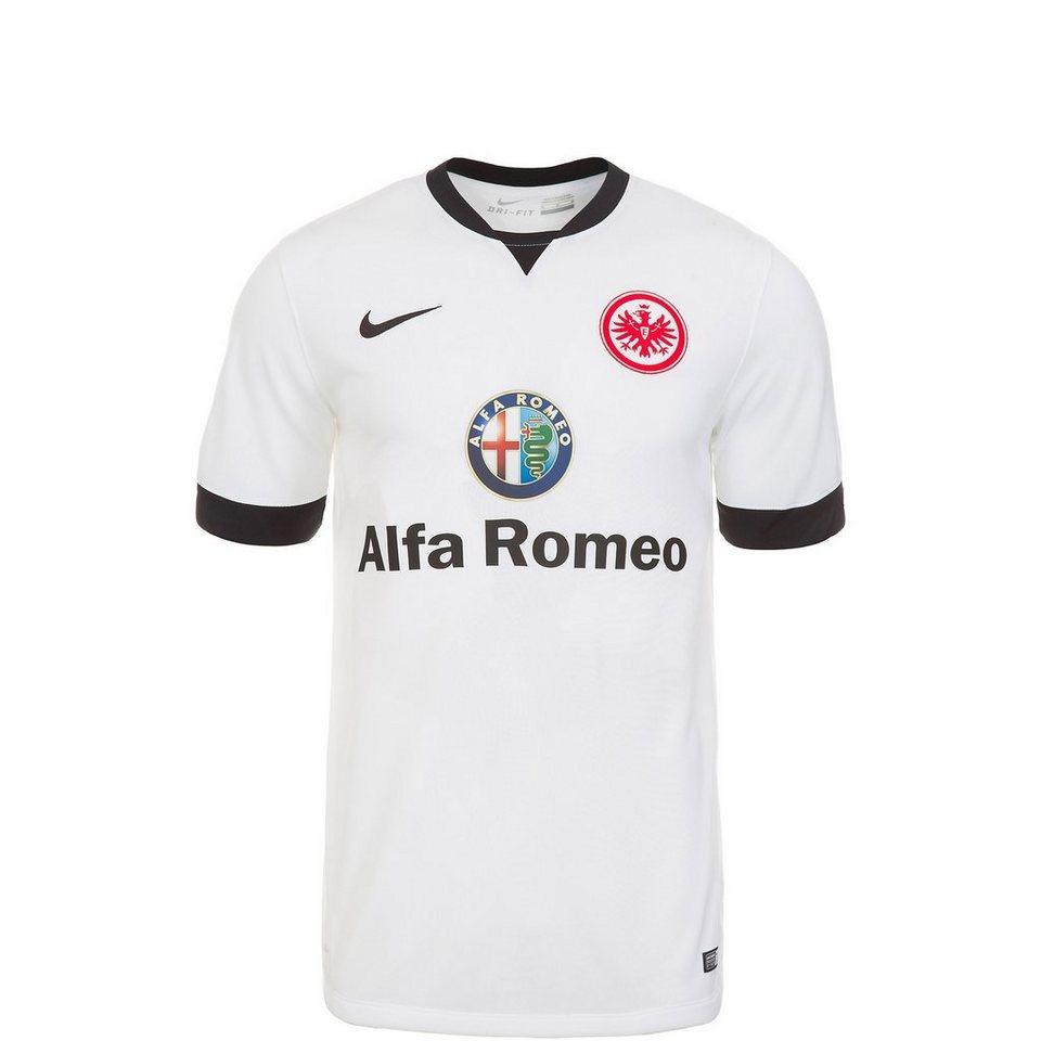 NIKE Eintracht Frankfurt Trikot Away Stadium 2014/2015 Kinder in weiß / schwarz