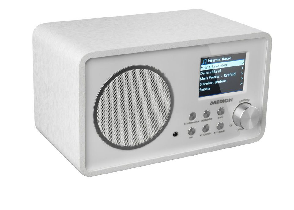MEDION® Wireless LAN Internet-Radio »LIFE® E85052« in weiß
