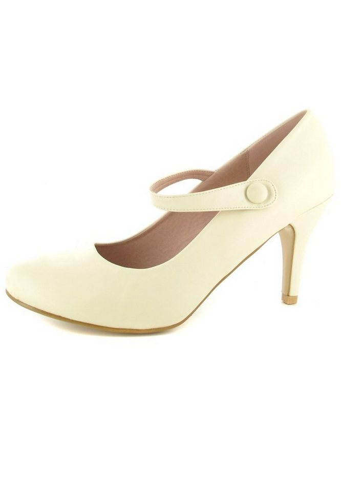 Andres Machado Pumps in Beige