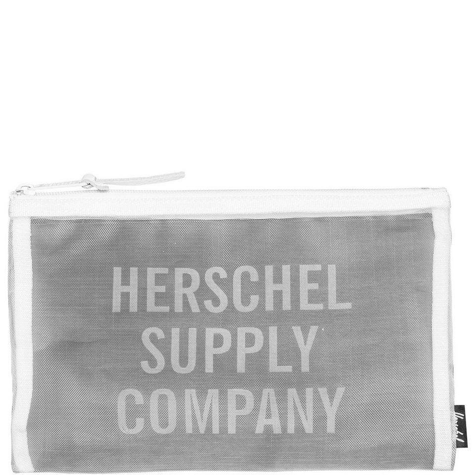 Herschel Network Mesh Pouch Medium Tasche in weiß / schwarz