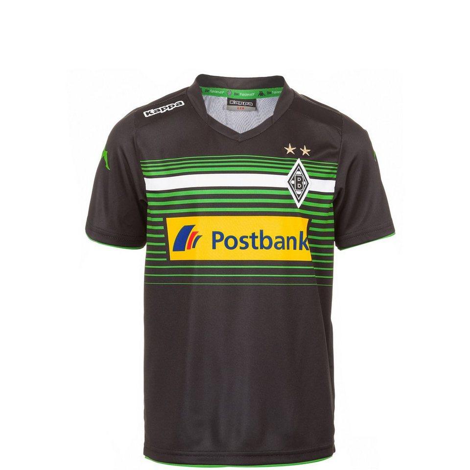 KAPPA Borussia Mönchengladbach Trikot 3rd 2014/2015 Kinder in schwarz / grün