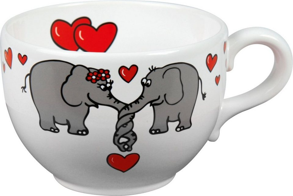 Waechtersbach Jumbotasse »Elefantenliebe«