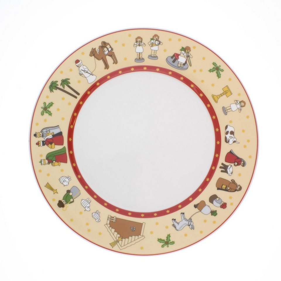 Kahla Speiseteller »Aronda Erzgebirge« 1-teilig in Rot, Weiß
