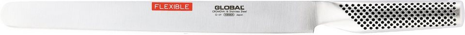 GLOBAL G-69 Schinken- Lachsmesser flexibel in Silberfarben