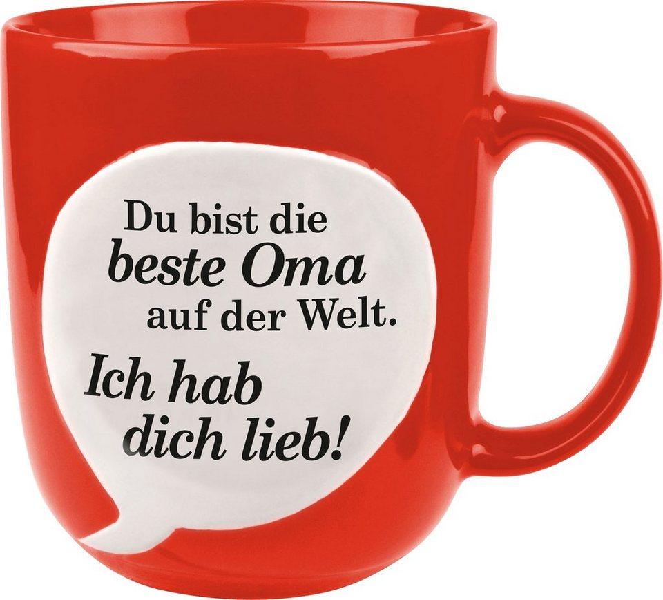Waechtersbach Henkelbecher »Beste Oma« in rot