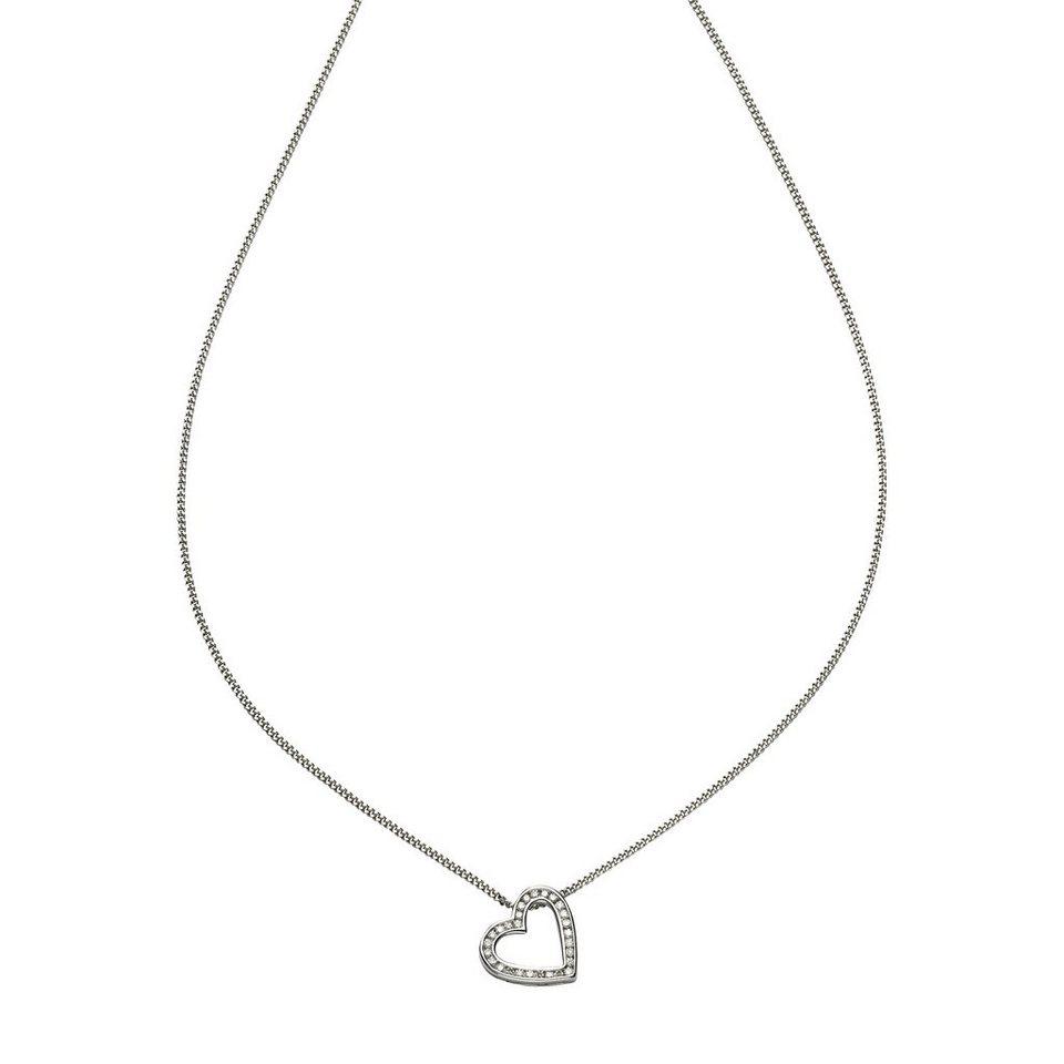 Diamonds by Ellen K. Anhänger mit Kette »585/- Weißgold Brillant 0,22ct.« in weiß