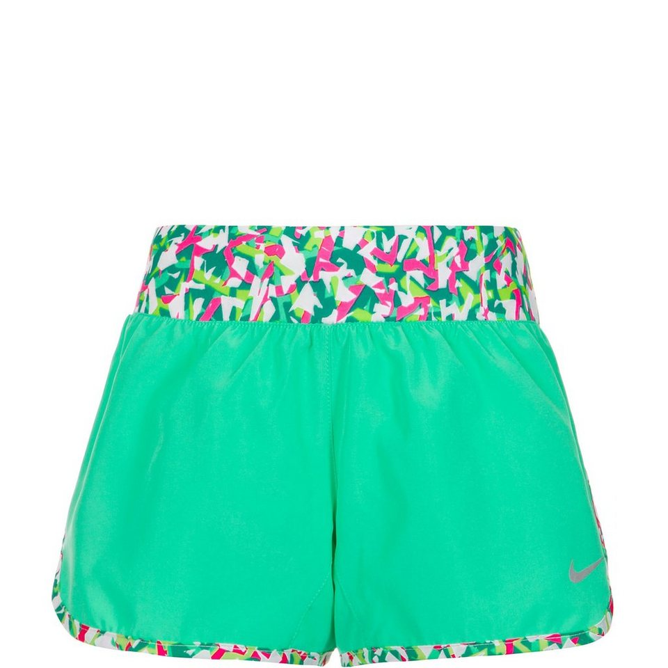 NIKE GFX Tempo Laufshort Kinder in mint / pink