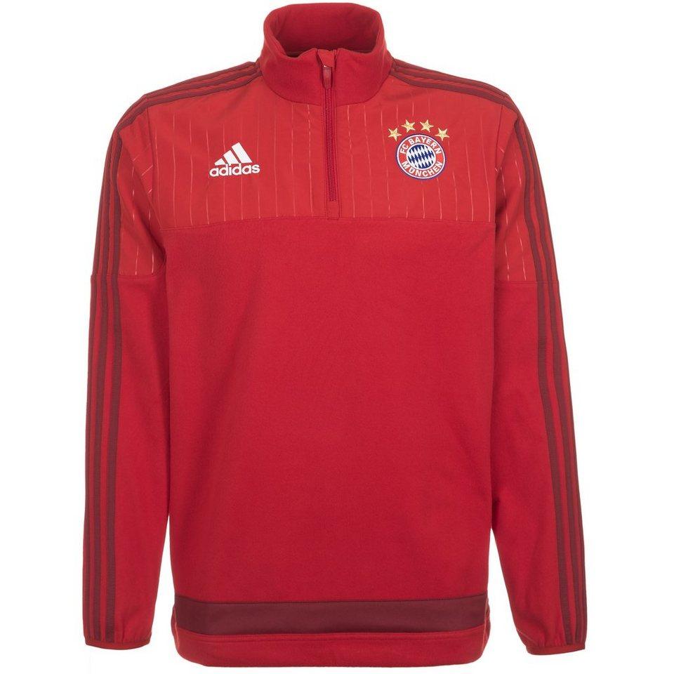 adidas Performance FC Bayern München Fleece Trainingssweat Herren in rot