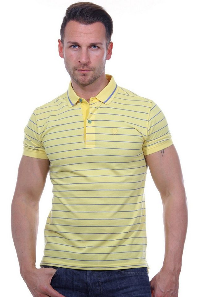 MCL Poloshirt slim fit in gelb