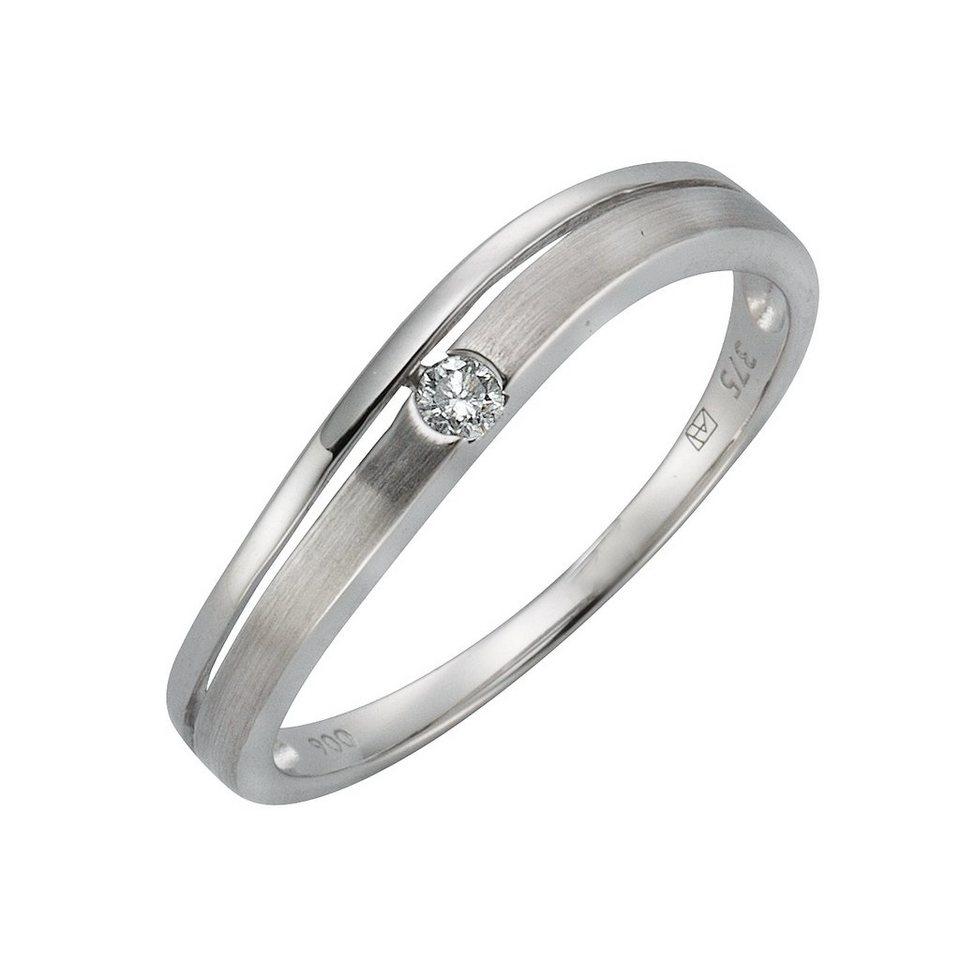 Diamonds by Ellen K. Ring »375/- Weißgold Brillant 0,06ct.« in weiß