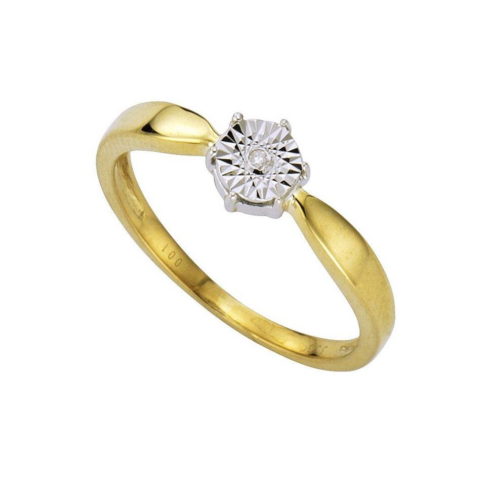 Diamonds by Ellen K. Ring »333/- Gold zweifarbig Brillant 0,01ct.« in gelb