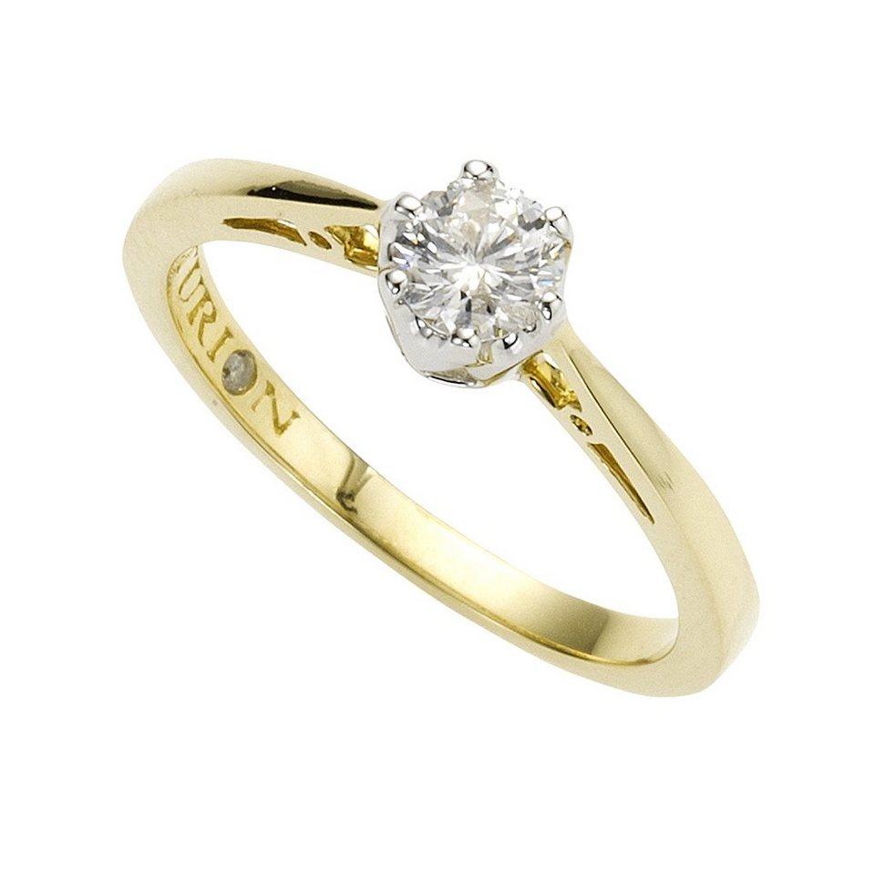 Diamonds by Ellen K. Ring »585/- Gold bicolor Brillant 0,26ct.« in gelb
