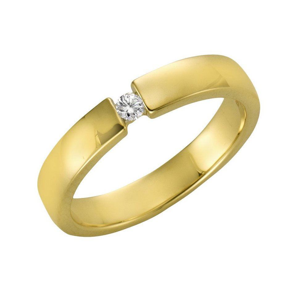 Diamonds by Ellen K. Ring »375/- Gelbgold Brillant 0,05ct.« in gelb