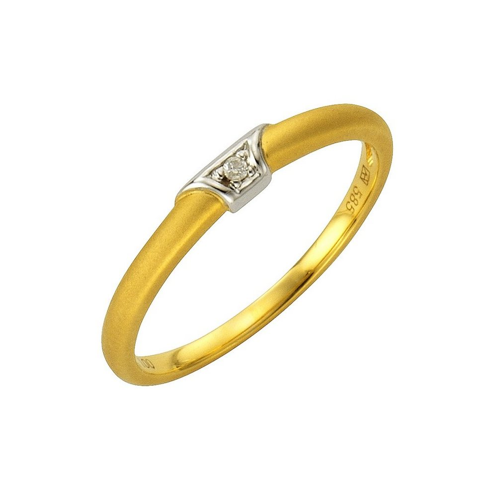 Diamonds by Ellen K. Ring »585/- Gold bicolor Brillant 0,01ct.« in gelb