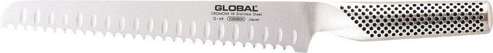 Global G-68R Brotmesser in Silberfarben