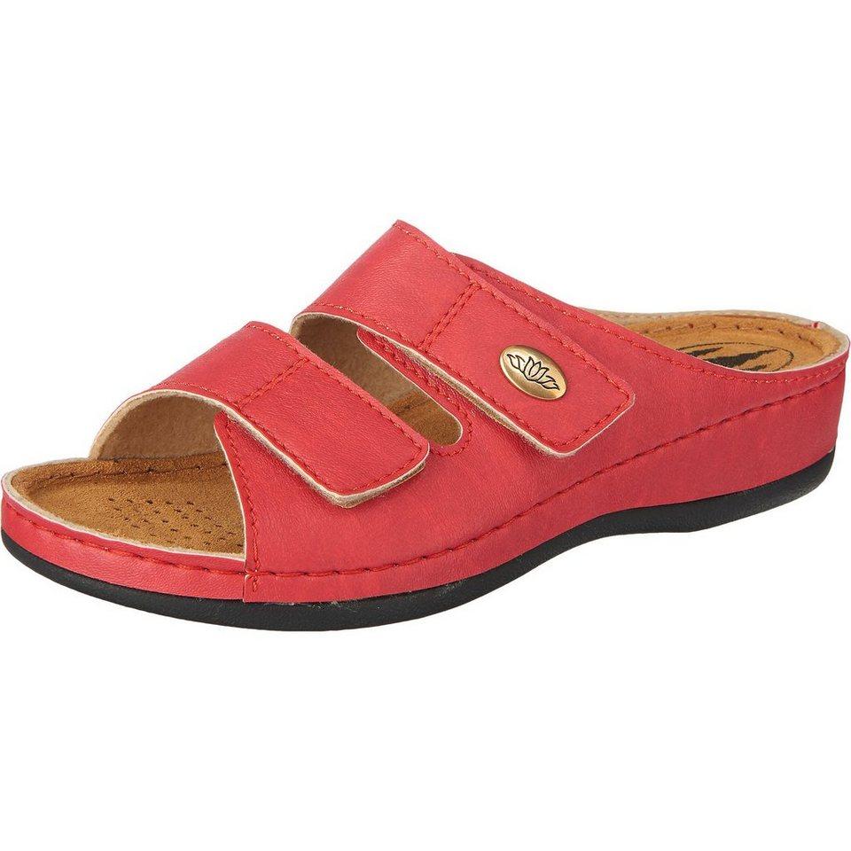 Franken-Schuhe Pantoletten in rot