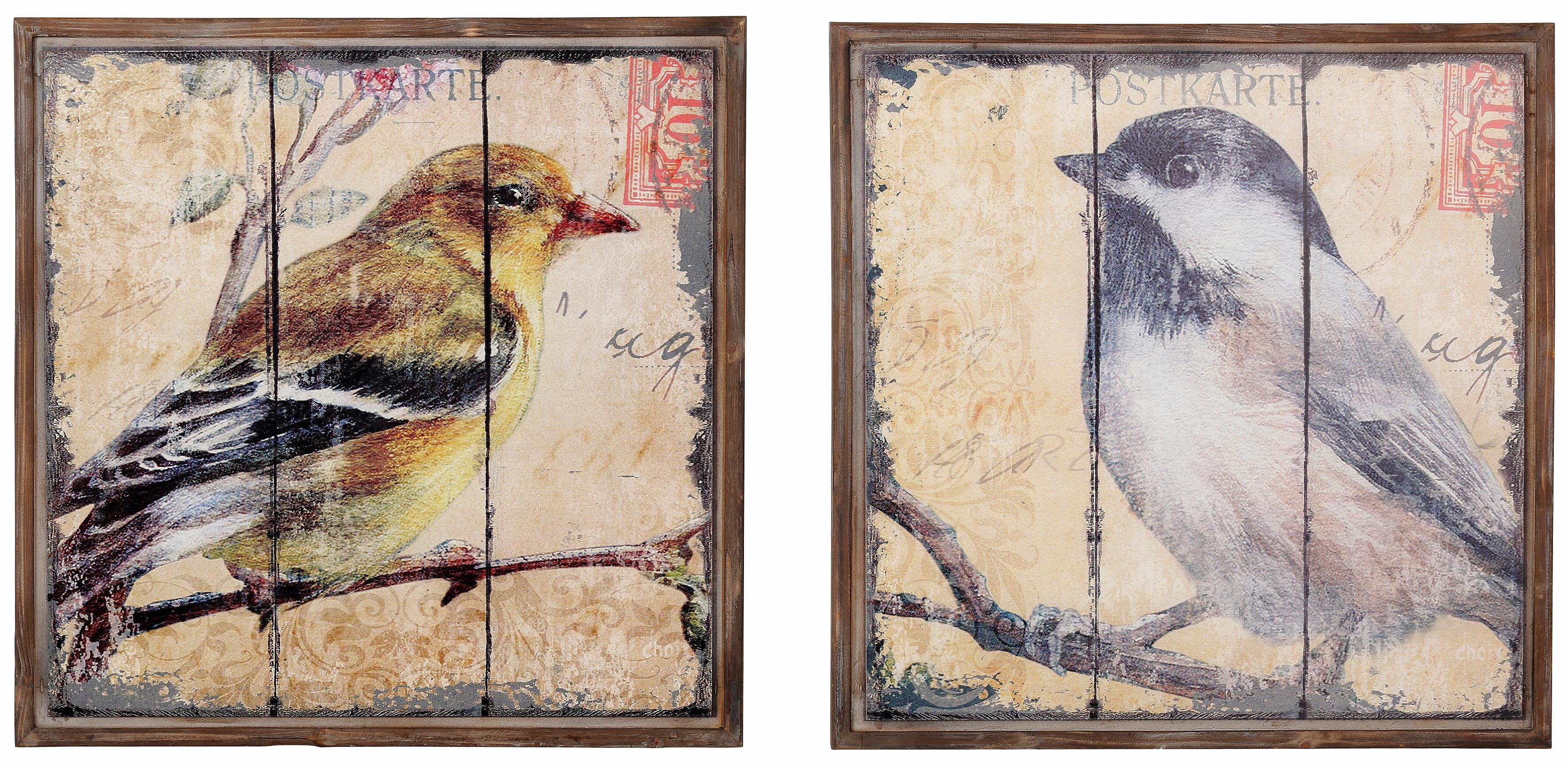 Home affaire Wandbild »Vogel« (2-tlg. Set)