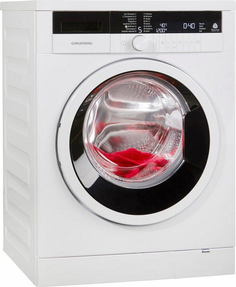 grundig waschmaschine gwn48431 a 8 kg 1400 u min online kaufen otto. Black Bedroom Furniture Sets. Home Design Ideas