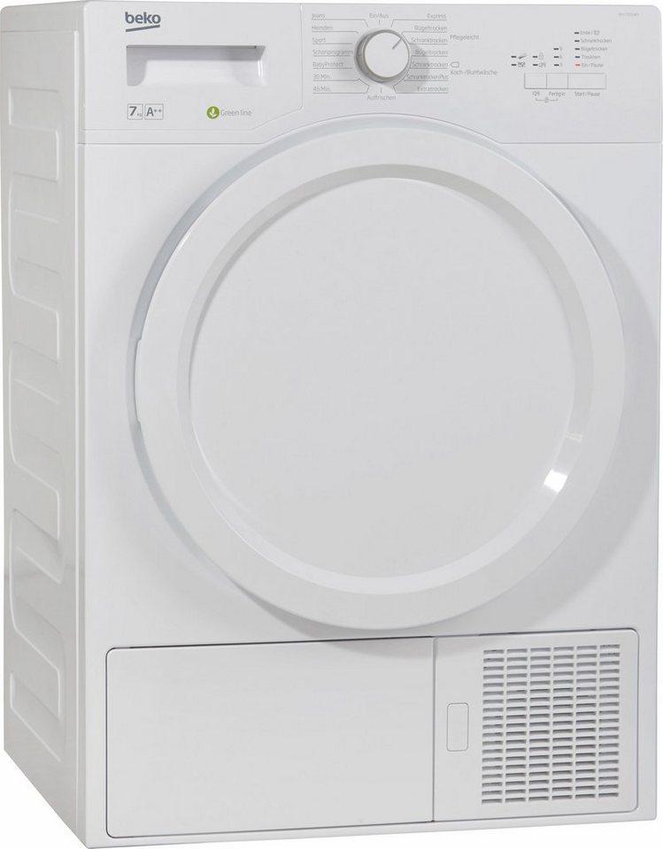 BEKO Trockner DPS 7205 W3, A++, 7 kg in weiß