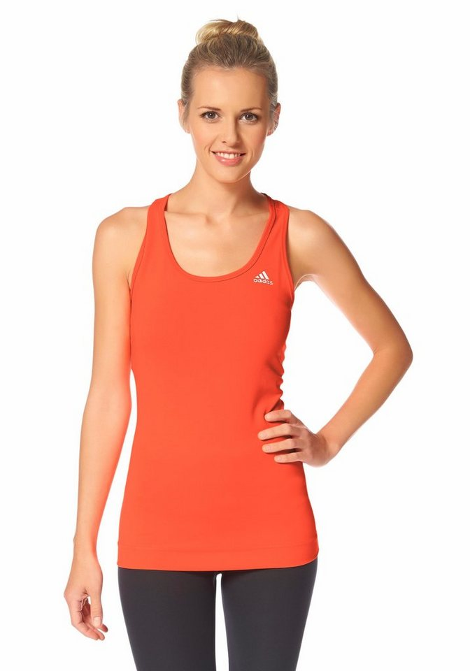 adidas Performance TECHFIT TANK Funktions-Tanktop in Orange