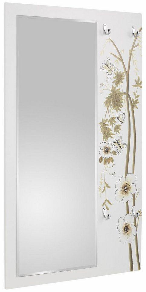 Home affaire Garderobe »Flower« in weiß