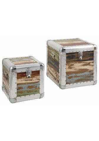 HOME AFFAIRE Suoliukas-dėžė (Rinkinys 2 vienetai)