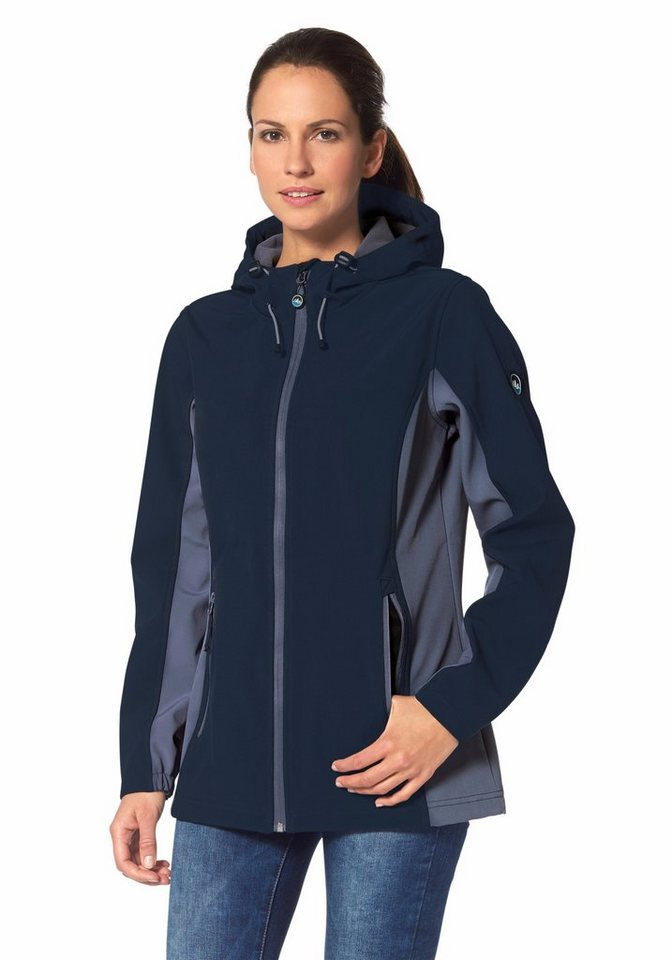 Polarino Softshelljacke in Marine