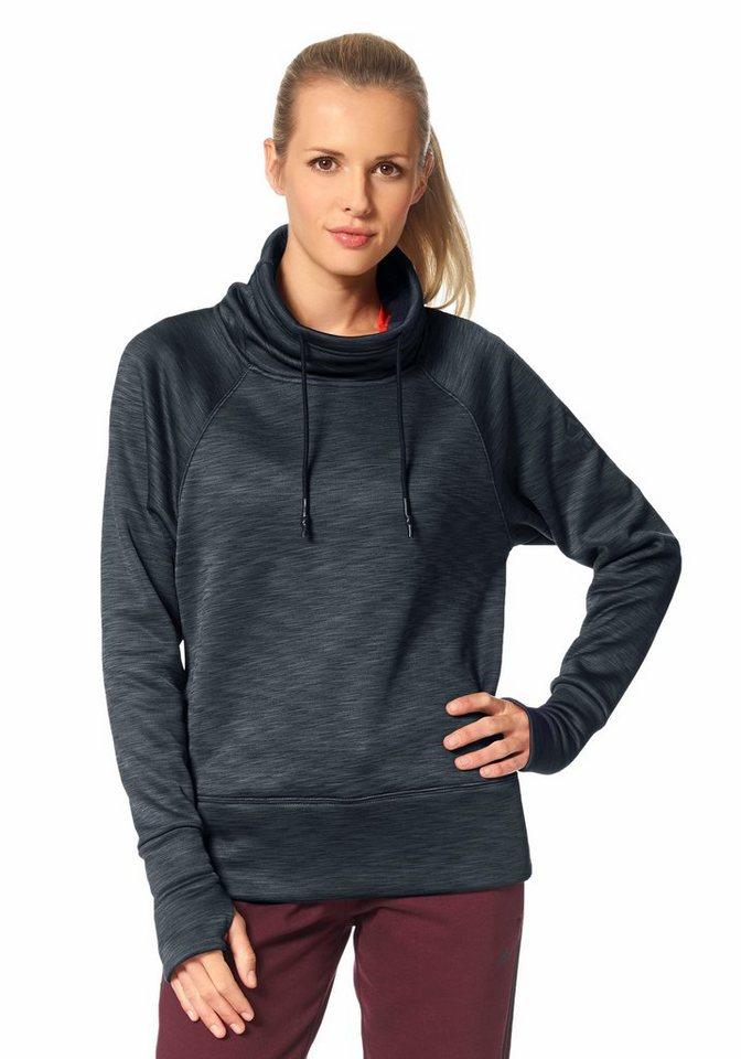 adidas Performance CLIMAHEAT SWEATER Funktions-Sweatshirt in Dunkelgrau-Meliert