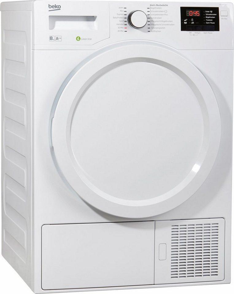 BEKO Trockner DPY 8405 HW3, A++, 8 kg in weiß