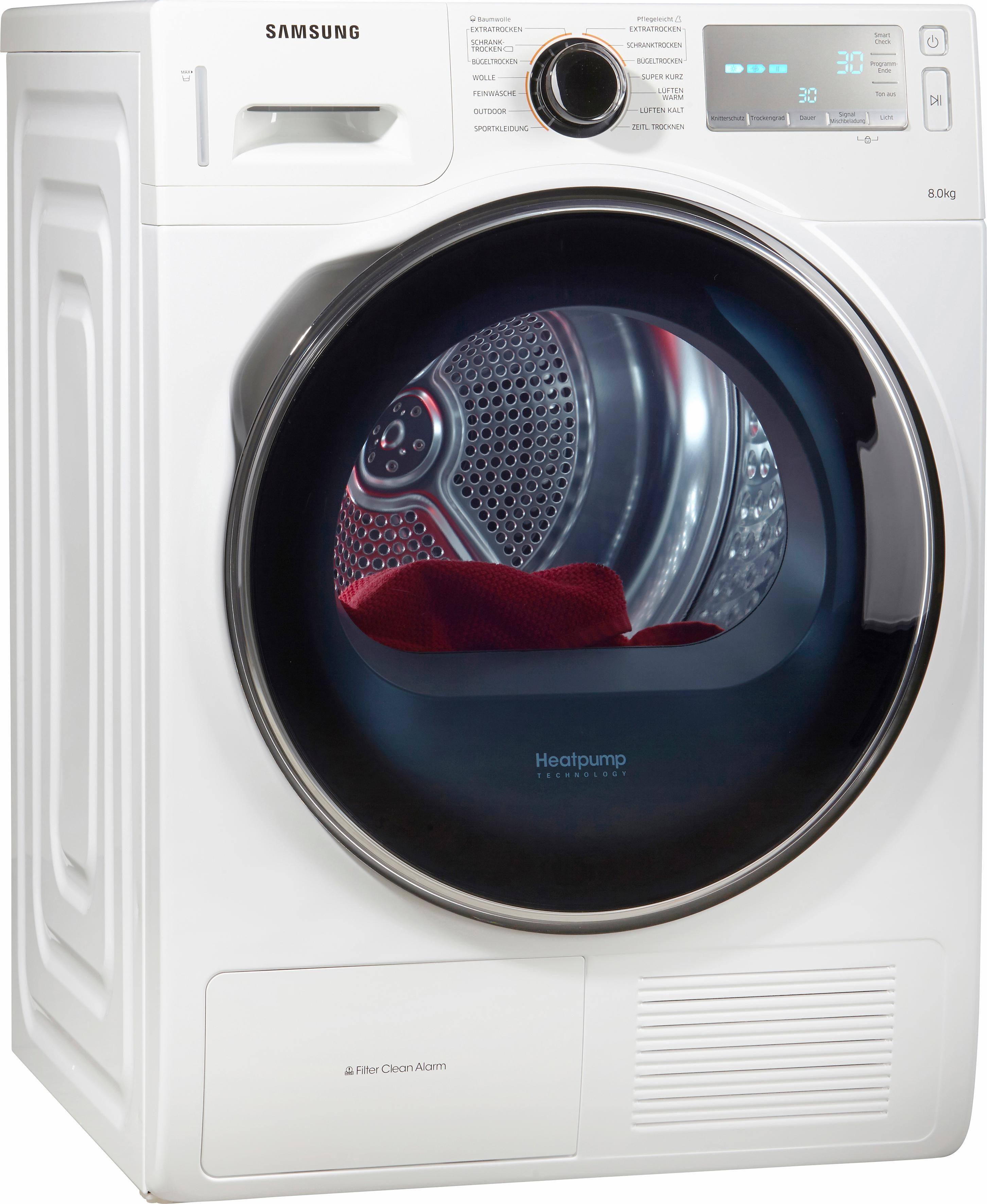 Samsung Trockner DV80H8100HW/EG, A++, 8 kg