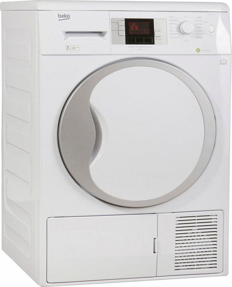 BEKO Trockner DPU 7306 XE, A+++, 7 kg in weiß