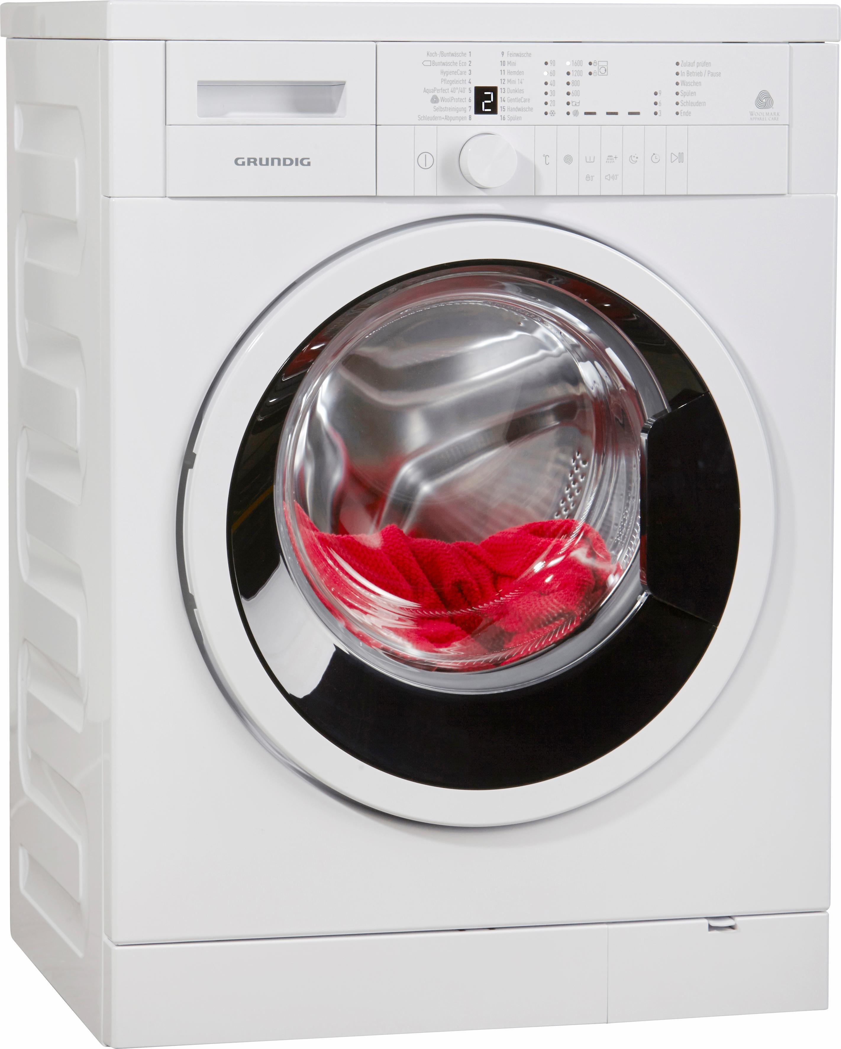 Grundig Waschmaschine GWN 26630, A+++, 6 kg, 1600 U/Min