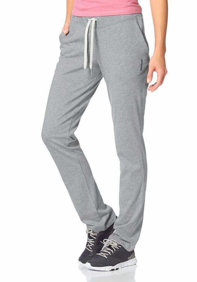 Reebok JERSEY PANTS Yogahose in Grau-Meliert