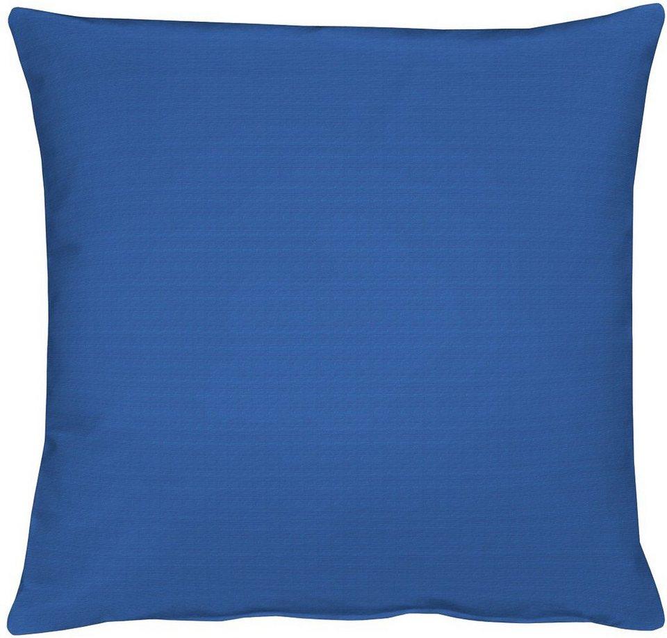 Kissen, Apelt, »4362 Rips Uni« (1 Stück) in blau