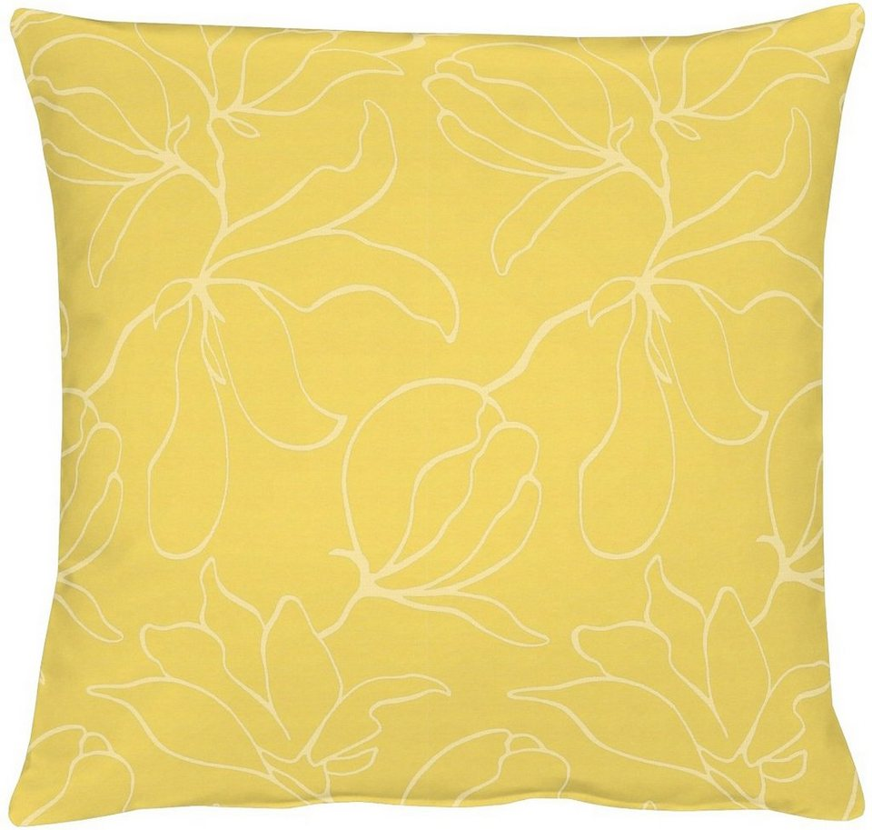 Kissenhüllen, Apelt, »4887 Jacquard - Uni« (1 Stück) in gelb