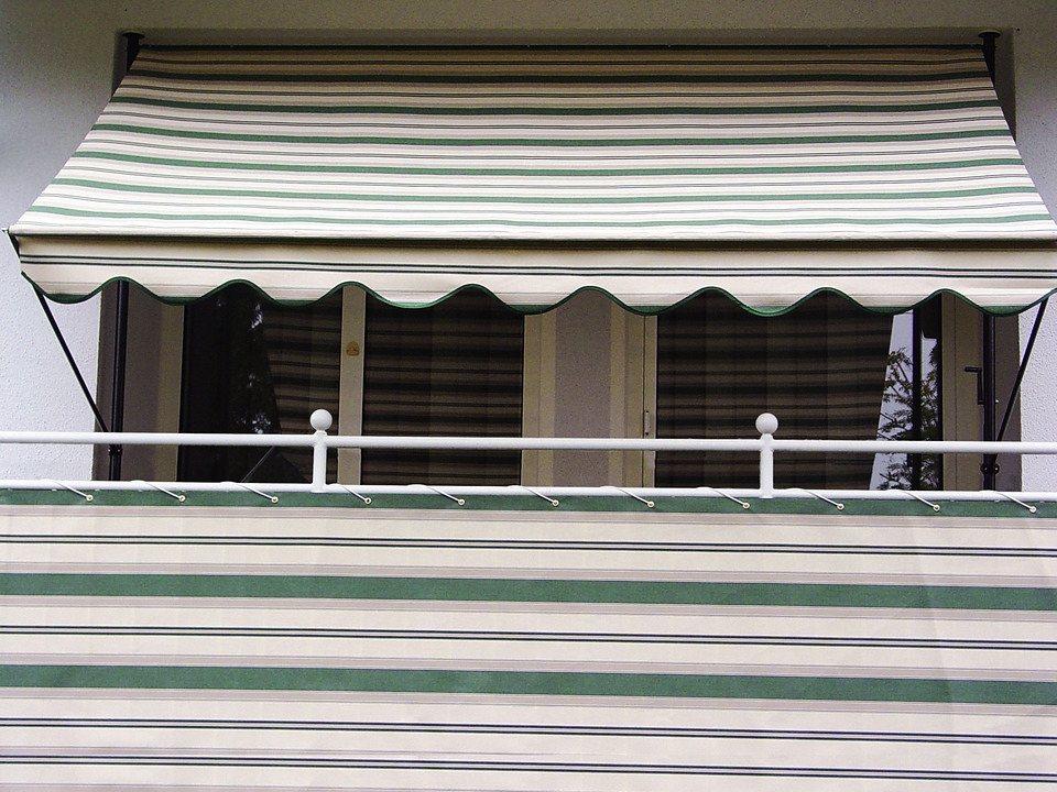 Balkonsichtschutz »Polyacryl, grün/beige« in 2 Höhen in grün