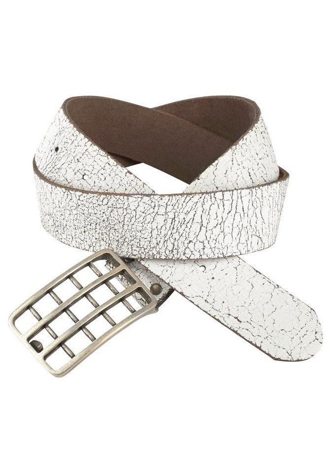 J. Jayz Koppelgürtel mit Gitter-Schließe in weiß