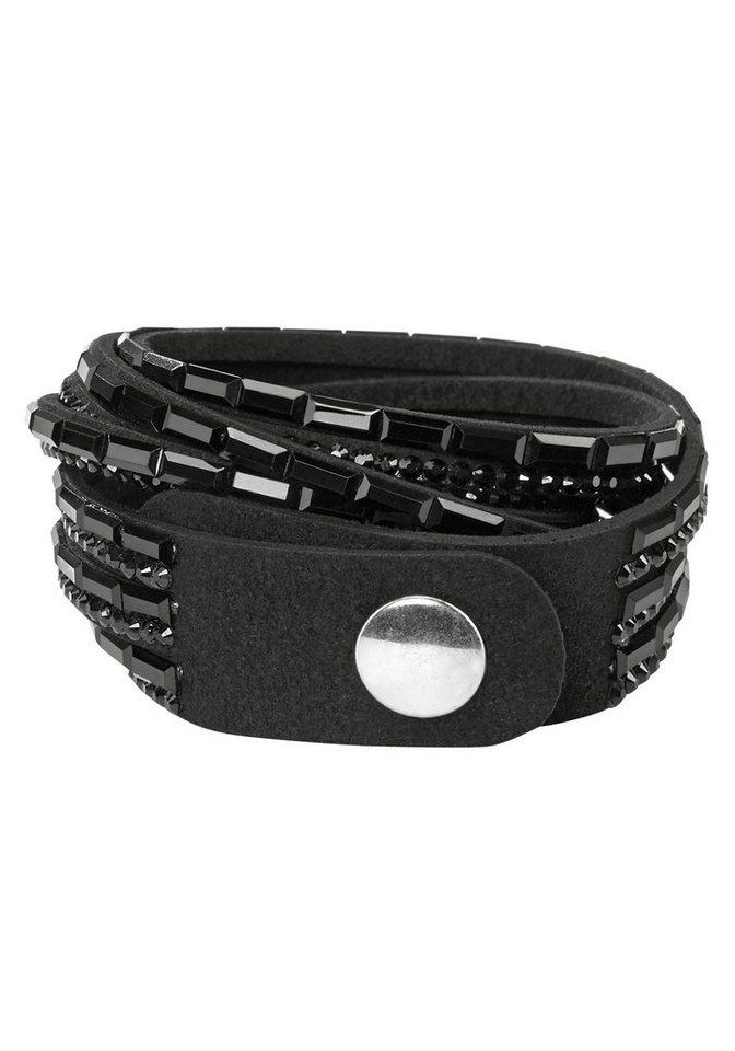 J. Jayz Armband »zum Wickeln« in schwarz