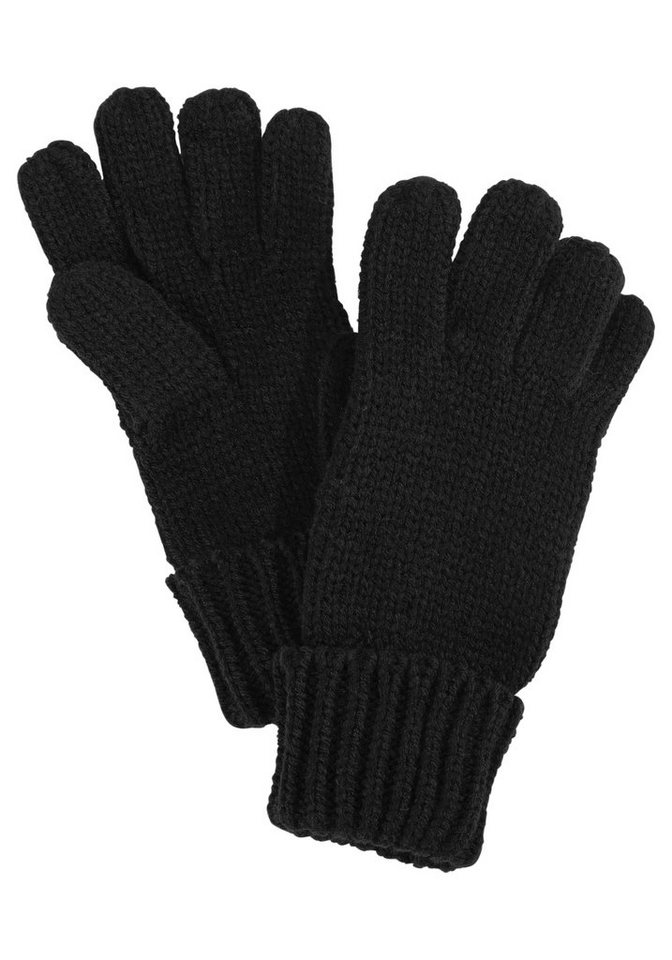 J. Jayz Strickhandschuhe mit Rippenstrickbündchen in schwarz
