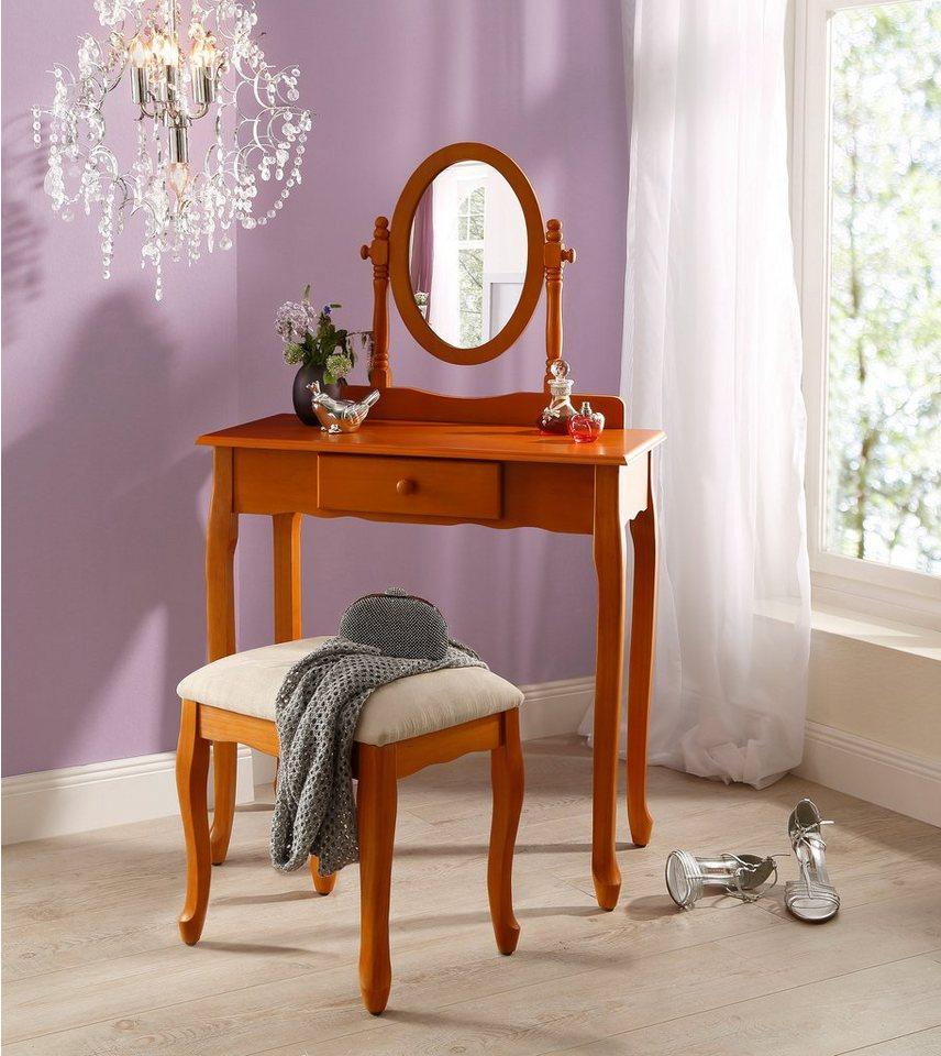 schminktisch home affaire mit hocker kaufen otto. Black Bedroom Furniture Sets. Home Design Ideas