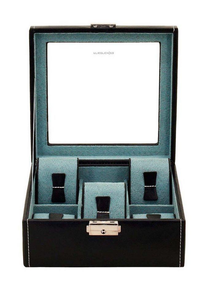 Friedrich23 Uhrenkasten »Bond«, mit Glasdeckel   Uhren > Uhrenboxen   Schwarz   Friedrich23