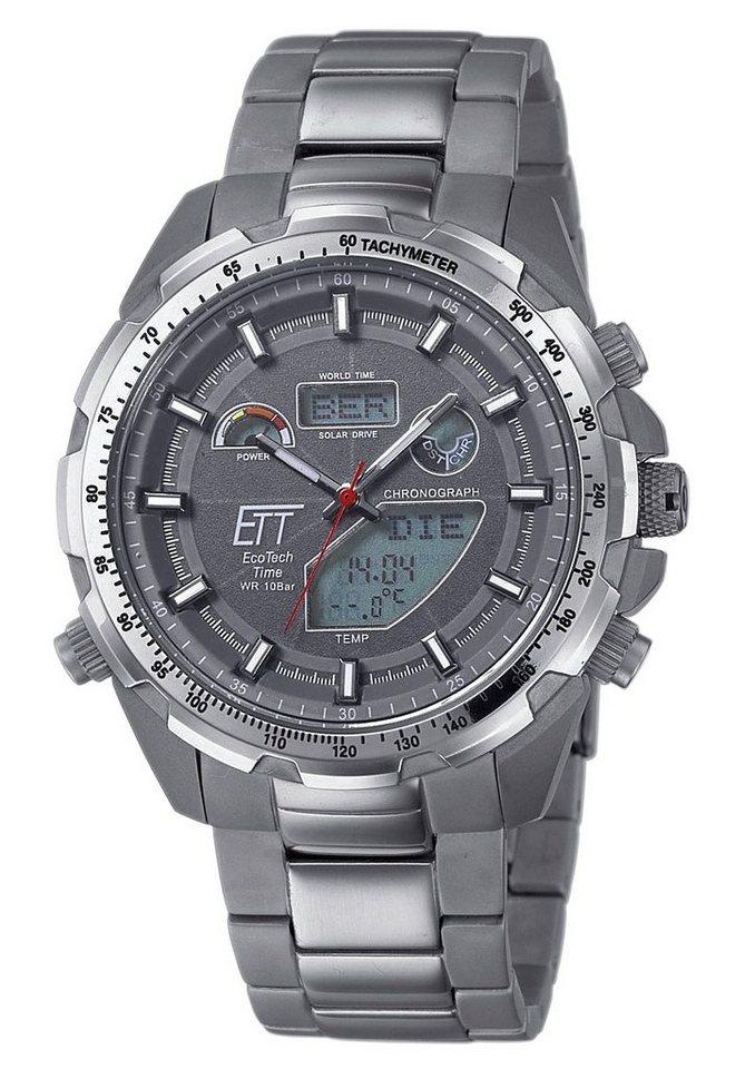 ETT Funkchronograph »EGT-11271-21M« Mit Temperaturanzeige in grau-titansilberfarben