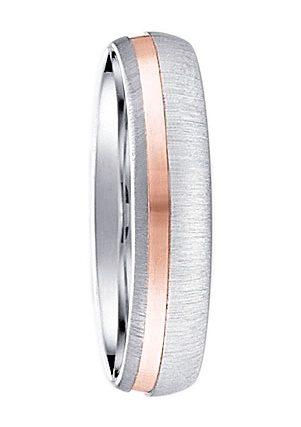 firetti Trauring in Silber 925/bicolor