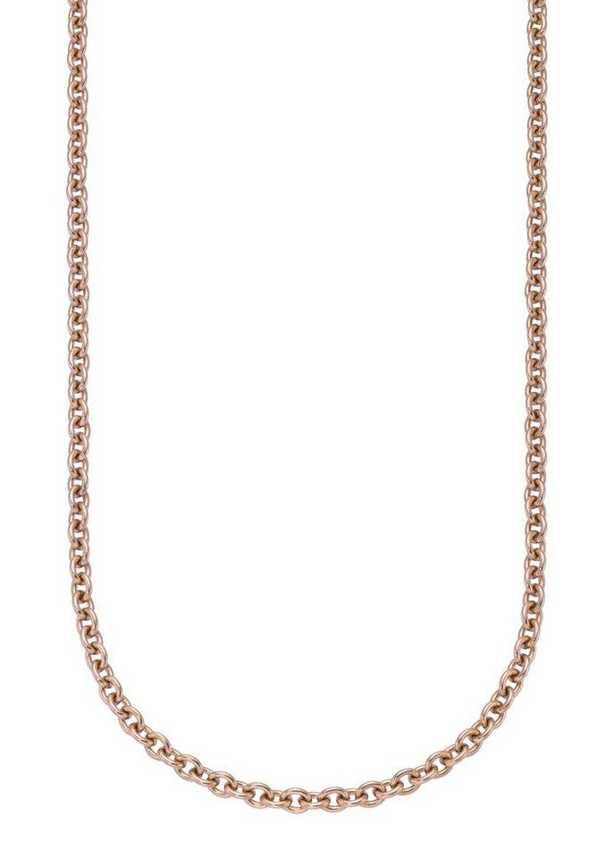 firetti Halsschmuck: Halskette / Collierkettchen in Ankerkettengliederung in roségoldfarben