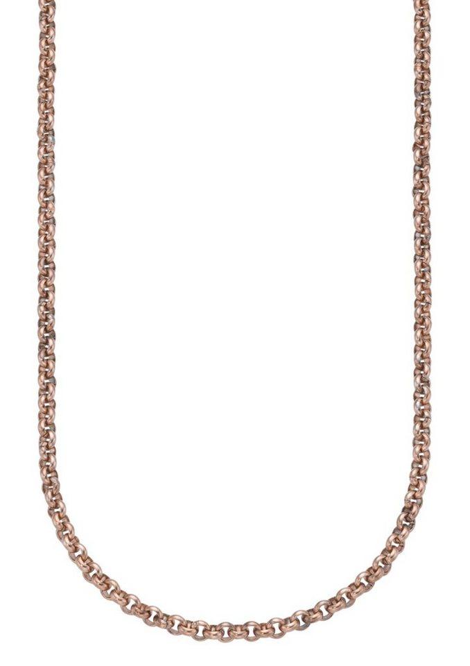 firetti Halsschmuck: Halskette / Collierkettchen in Erbskettengliederung in roségoldfarben