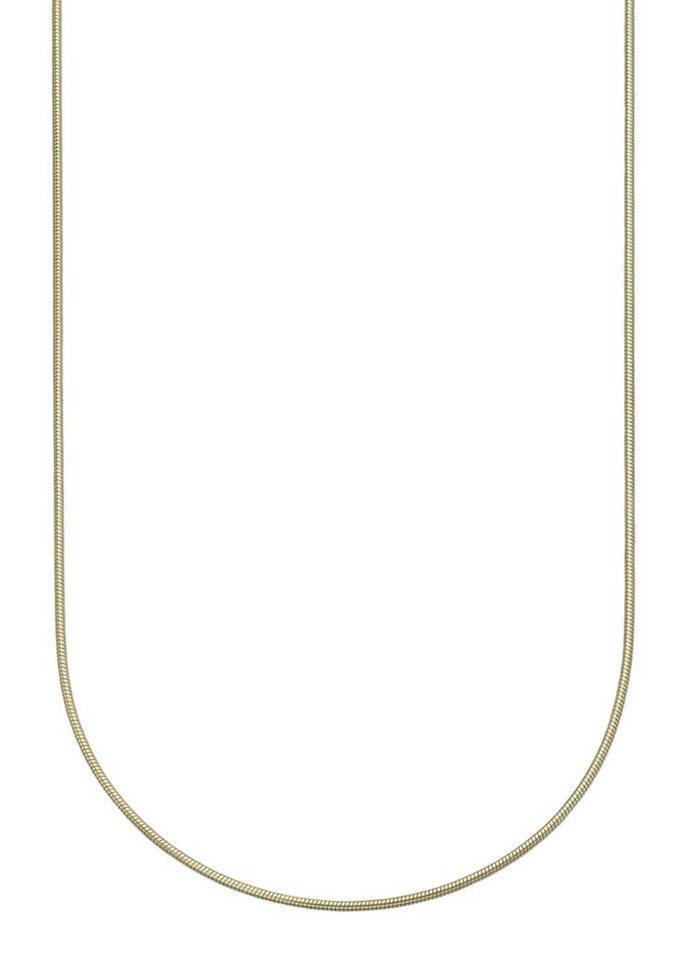 firetti Halsschmuck: Halskette / Collierkettchen in Schlangenkettengliederung in Gelbgold 333
