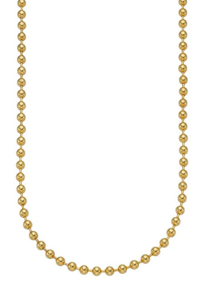 firetti Halsschmuck: Halskette / Collierkettchen in Kugelkettengliederung in goldfarben